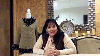 getlinkyoutube.com-TEJIDO BLUSÓN FRANCÉS - Con los DEDOS fácil y rápido - Yo tejo con LAURA CEPEDA
