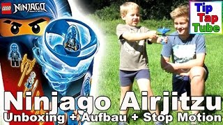 getlinkyoutube.com-Lego Ninjago Airjitzu Jayflieger Spielzeug Unboxing+Aufbau+Stop Motion-Kanal für Kinder-Kinderkanal