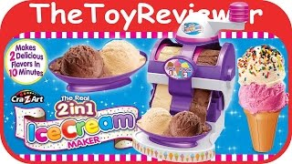 getlinkyoutube.com-Cra-Z-Art The Real 2 in 1 Ice Cream Maker Kit Unboxing Tutorial by TheToyReviewer
