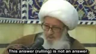Ayatullah Khorasani on Azadari - Against Western made shia scholars - Reality of Zanjeer Zani