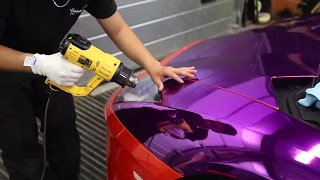 getlinkyoutube.com-KSI's Purple Lamborghini Wrapped - (part 1)