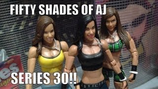 getlinkyoutube.com-WWE ACTION INSIDER: AJ Lee Superstars series 30 diva's wrestling figure Mattel Basic Elite