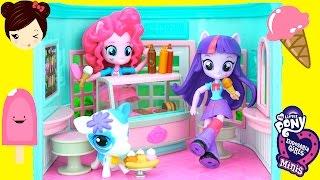 getlinkyoutube.com-Heladeria de My Little Pony Equestria Mini Pinkie Pie - Juguetes de MLP LPS