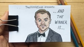 Leonardo DiCaprio Oscar Winning Flipbook Animation