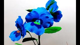 Paper Flowers Pansy double ( flower # 122)