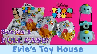 getlinkyoutube.com-Disney Tsum Tsum Vinyls Mystery Stack Pack Series 1 Blind Bags Complete Case | Evies Toy House