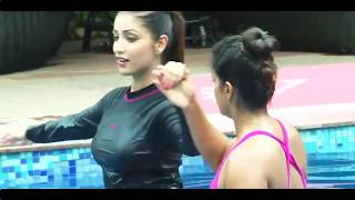 Yami Gautam swimming in hot Yoga Pants width=