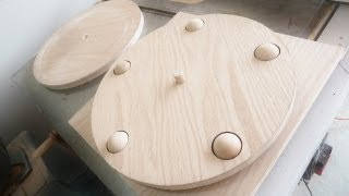 getlinkyoutube.com-Lazy Susan made of  100% WOOD