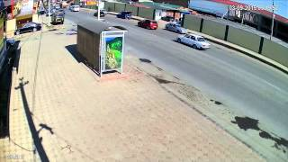 getlinkyoutube.com-Уличная HDCVI камера DH-HAC-HFW1200RP-0360B, 3,6 mm., 2 Mpx, Цифромания, Утро Солнечно Авто Человек