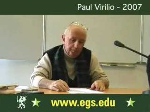 Paul Virilio. Dromology and Claustrophobia 2007 - YouTube