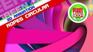 getlinkyoutube.com-Colorful Ropes Circular Loop Motion Background HD 1080p 4K CG