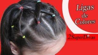getlinkyoutube.com-Peinado en Ligas, Cauchos o Cintas para Ocasion especial - Niñas, Novia, Pajesita, Trenza