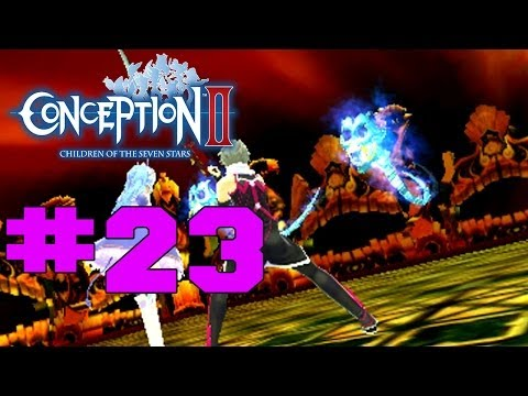 Conception II: Children of the Seven Stars 3DS - English Walkthrough Part 23 Sealed Tomb Boss [HD]