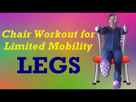 Chair Workout for Limited Mobility - Lower Body Strength Exercises