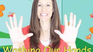 getlinkyoutube.com-Wash Our Hands Children's Song | Nursery Rhyme for toddlers & kids with Lyrics | Patty Shukla