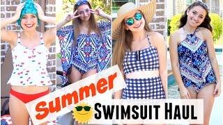 getlinkyoutube.com-Summer Swimsuit Haul | Brooklyn and Bailey