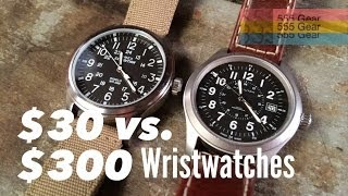 getlinkyoutube.com-$30 Watch Vs. $300 Watch: What's the Difference? Featuring the Hamilton Khaki & Timex Expedition