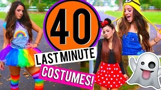getlinkyoutube.com-40 Last-Minute DIY Halloween Costumes! Niki and Gabi