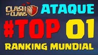 getlinkyoutube.com-Clash of clans atacando a vila do melhor do mundo