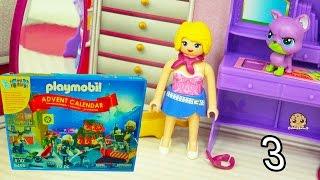 getlinkyoutube.com-Playmobil Holiday Christmas Advent Calendar - Toy Surprise Blind Bags  Day 3