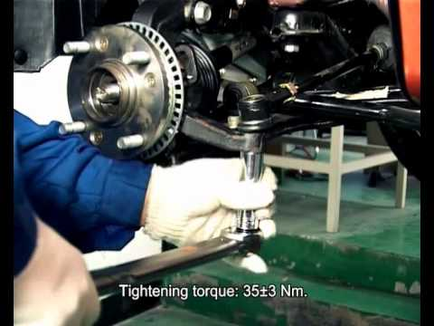 Снятие и установка поворотного кулака Chery A13/Форза