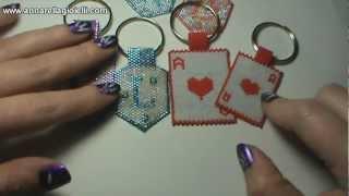 getlinkyoutube.com-Tutorial Portachiave con perline 🌻 Peyote dispari e punta di freccia 🌻 San Valentino