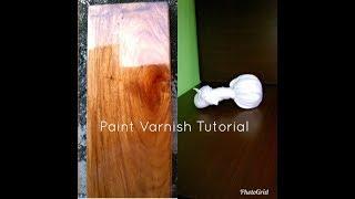 Old varnish techniques - part 2 Paint Varnish Tutorial Paano gawin ito? tagalog -