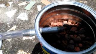 Making my coffee can home  biogas stove in Florida.
