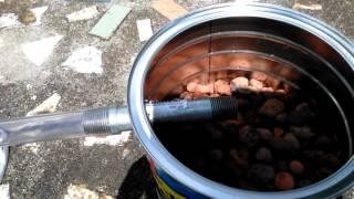 getlinkyoutube.com-Making my coffee can home  biogas stove in Florida.