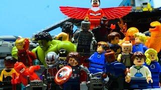 getlinkyoutube.com-Lego Avengers and Fantastic 4 - FALLEN (PART 1/2)