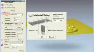 getlinkyoutube.com-ArtCAM Express 2009 - Machining a 3D Relief