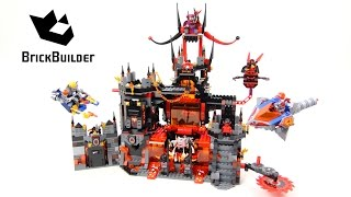 getlinkyoutube.com-Lego Nexo Knights 70323 Jestro's Volcano Lair - Lego Speed build
