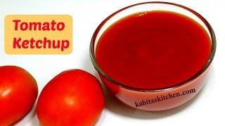 getlinkyoutube.com-Tomato Ketchup Recipe | Homemade Tomato Sauce | Sweet Spicy n Tangy Tomato Ketchup | kabitaskitchen