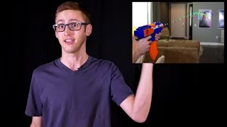 getlinkyoutube.com-HOW ACCURATE ARE NERF GUNS?!