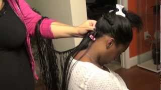 "getlinkyoutube.com-Sew-In Atlanta 18"" Indian Tracks with L10 Hair"