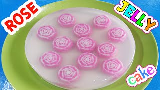 วิธีทำเค้กวุ้นดอกกุหลาบแบบง่ายๆ ใน 1 ชั่วโมง -  How to make Rose jelly cake in 1 hour | วุ้นแฟนซี