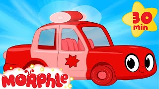 getlinkyoutube.com-My Red Police Car - My Magic Pet Morphle Compilation with Police Vehicle Videos for Kids!