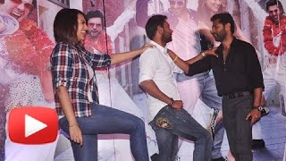 getlinkyoutube.com-Prabhu Deva, Sonakshi Sinha And Ajay Devgn Dance On Keeda | Action Jackson | Song Launch