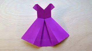 getlinkyoutube.com-Origami Kleid falten mit Papier - Basteln mit Kindern - DIY - Basteln Ideen - Kleidung