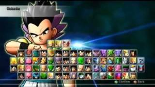 getlinkyoutube.com-Dragon Ball Raging Blast 2 All Characters On Select Screen