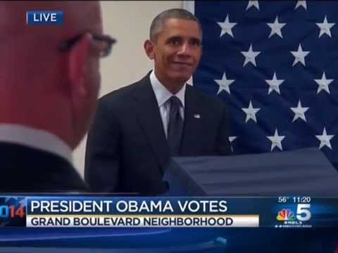 Appearing Confused, It Takes Obama 6 Minutes At Voting Machine To Cast Ballot