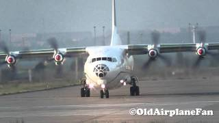 getlinkyoutube.com-Aero-Charter Airlines Antonov AN-12 Take Off at Leipzig-Halle (HD)