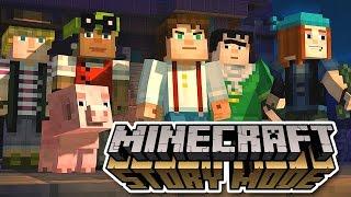 getlinkyoutube.com-Minecraft: Story Mode Episode 1 All Cutscenes (Game Movie) 1080p HD