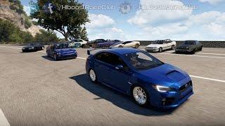 getlinkyoutube.com-Forza Horizon 2 (XB1) | 600HP '15 STi Build | Meet, Highway+Airstrip Drag Battles & More
