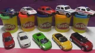 getlinkyoutube.com-Машинки Surprise eggs CARS Скорая помощь Милиция полицейская Развивающий мультик про машинки