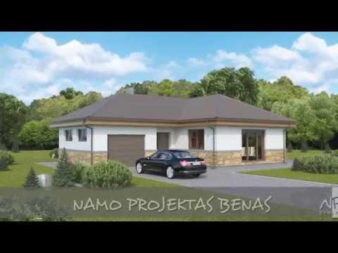 Vieno aukšto namo projektas Benas   NPS projektai - namų projektavimas, statyba