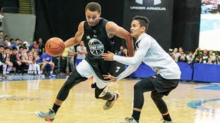 getlinkyoutube.com-Stephen Curry BREAKS ANKLES in Philippines during 2015 Under Armour event