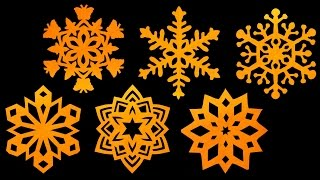getlinkyoutube.com-How to make paper Snowflakes - Step by step tutorial (Very easy) - HD