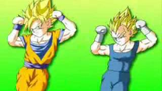 Vegeta and Goku DANCE ???!!!!!!!!!