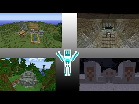 Comment trouver : Biomes, Stronghold, Temples, Village, Cabane de witch